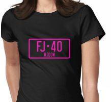 FJ40 Widow Logo Pink Womens Fitted T-Shirt