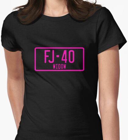 FJ40 Widow Logo Pink Womens Fitted T-Shirt