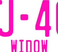 FJ40 Widow Logo Pink Sticker
