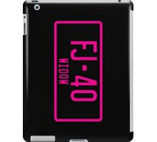 FJ40 Widow Logo Pink iPad Case/Skin