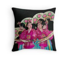 Circle of fans Throw Pillow
