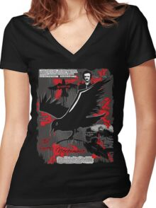 The Following: Quotes of a Killer Women's Fitted V-Neck T-Shirt