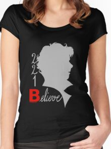 221B: Believe! Women's Fitted Scoop T-Shirt