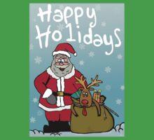 Happy Holidays One Piece - Short Sleeve