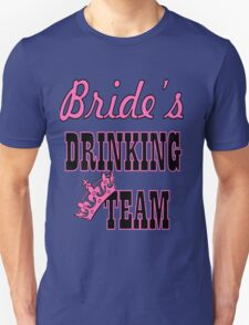 cute pink bachelorette party bride's drinking team T-Shirt