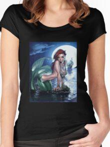 Siren, mermaid Women's Fitted Scoop T-Shirt