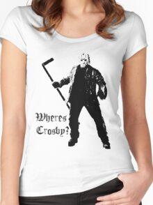 Jason is not a Crosby fan... Women's Fitted Scoop T-Shirt