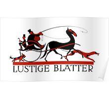 Retro vintage art Lustige Blaetter (Funny pages) Poster