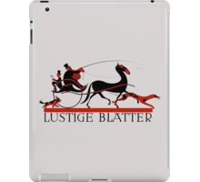 Retro vintage art Lustige Blaetter (Funny pages) iPad Case/Skin