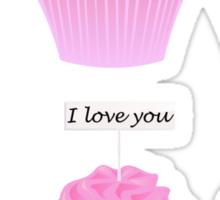 set of cupcakes Sticker