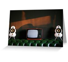 Chesterfield, TV, Podspeakers, Sunrise Greeting Card