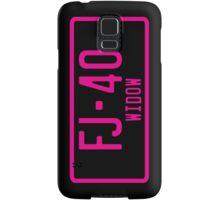 FJ40 Widow Logo Pink Samsung Galaxy Case/Skin