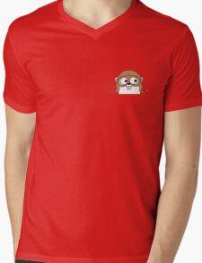 golang Mens V-Neck T-Shirt