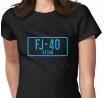 FJ40 Widow Logo Blue Womens Fitted T-Shirt