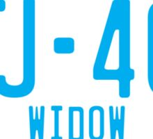 FJ40 Widow Logo Blue Sticker