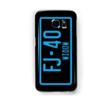 FJ40 Widow Logo Blue Samsung Galaxy Case/Skin