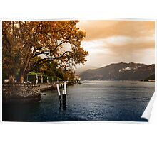Autumn at Lake Como Poster