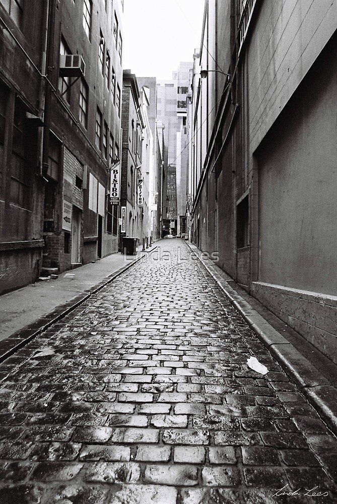 City Lane, Melbourne by Linda Lees