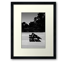 Park Benches Framed Print