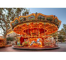 La Belle Epoque Carousel Photographic Print