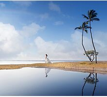 A Bride In Paradise Photographic Print