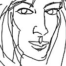 Engaging Line Drawing WIP 1 by Anthea  Slade