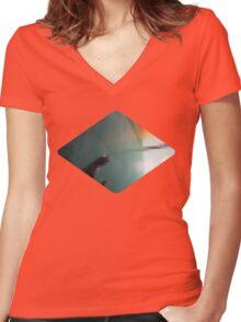 bathroom Women's Fitted V-Neck T-Shirt