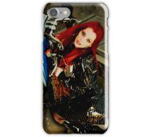 red hair babe ariel on harley bike iPhone Case/Skin