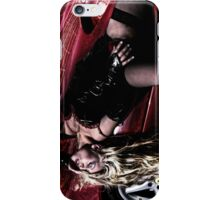 Valery blond hair babe in ferrari iPhone Case/Skin