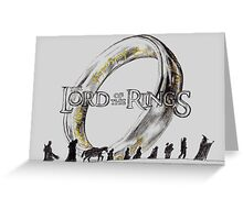 The Lord of The Rings Greeting Card