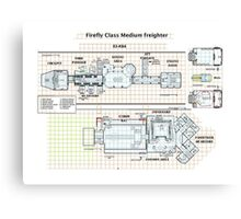 Firefly 03-K64 floorplan only Canvas Print