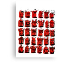 Wee Helmeted Red Folk Canvas Print