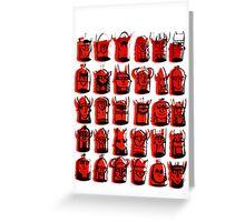 Wee Helmeted Red Folk Greeting Card