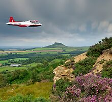 Jet Provost over the Cleveland Hills by Gary Eason + Flight Artworks