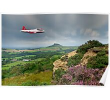 Jet Provost over the Cleveland Hills Poster