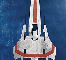 Battlestar Glactica pop art / minimal viper  by GannucciArt
