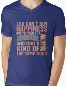 Books=Happiness Mens V-Neck T-Shirt