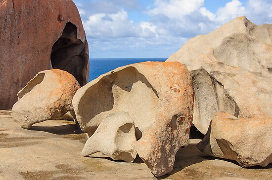 Postcard from Remarkable Rocks - Rock Shells by Paul Weston
