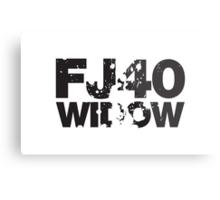 Fj40 Widow Bold Splat Metal Print