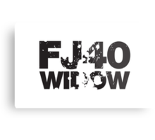 Fj40 Widow Bold Splat Metal Print