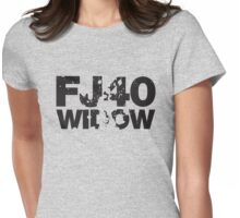 Fj40 Widow Bold Splat Womens Fitted T-Shirt