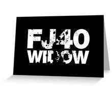 FJ40 Widow Bold Splat (W) Greeting Card