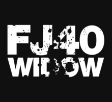 FJ40 Widow Bold Splat (W) by FJ40Widow