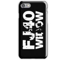 FJ40 Widow Bold Splat (W) iPhone Case/Skin