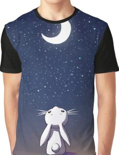Moon Bunny Graphic T-Shirt
