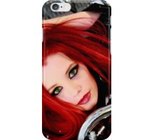 Red hair sexy model ariel iPhone Case/Skin