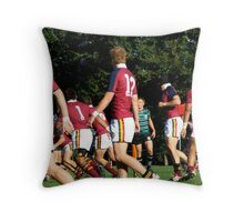 Backs in motion Throw Pillow