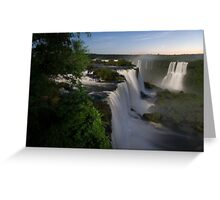 Iguassu Falls at night Greeting Card