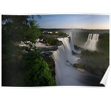 Iguassu Falls at night Poster
