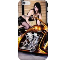 Harley Davidson girl 01 iPhone Case/Skin